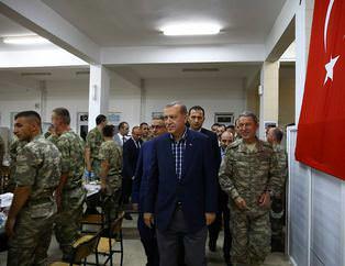 Erdoğan Silopi'de askerlerle birlikte iftar yaptı