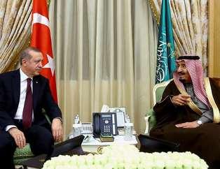 Erdoğan, Suudi Arabistan'da resmi törenle karşılandı