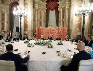 Erdo�an'dan dünya liderlerine ak�am yeme�i