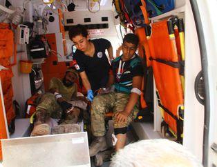 Yaralanan ÖSO askerleri Türkiye'ye getirildi