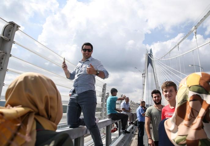 Yavuz Sultan Selim Köprüsünde ilk gün trafiği