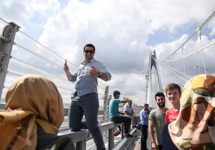 Yavuz Sultan Selim Köprüsü'nde ilk gün trafi�i