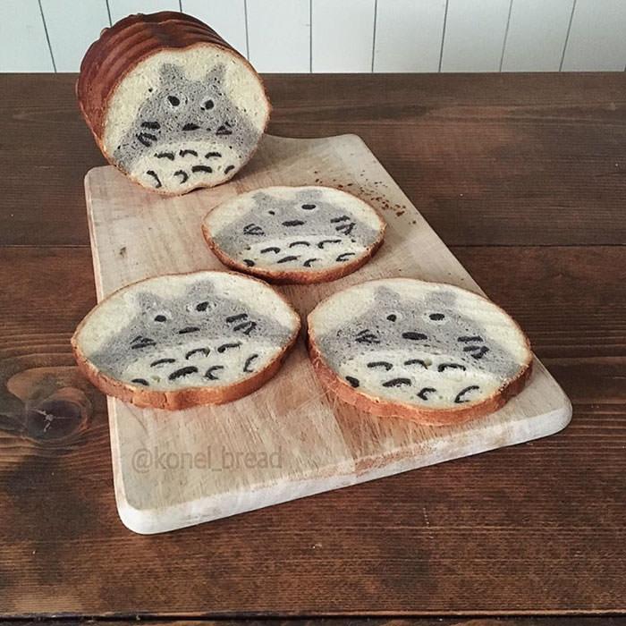Japon anneden çocuklar için sanatsal ekmekler