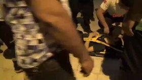 Balkondan düşüp yaralandı