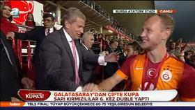 İşte Galatasaray'ın kupa töreni!