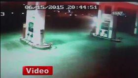 Benzin istasyonuna böyle daldı