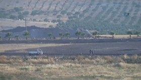 Türk tankını gören DAEŞ'liler böyle kaçtı