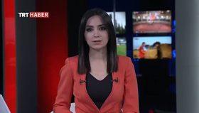 TRT spikeri şehit eşini izlerken gözyaşlarını tutamadı