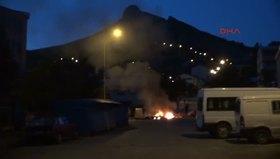 Tunceli'de PKK'lılar bayrak yaktı