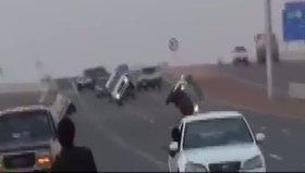 Arap gençlerden ölümüne akrobasi