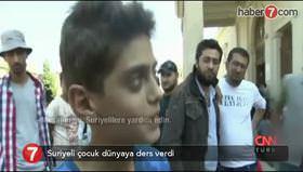 Suriyeli çocuktan dünyaya ders