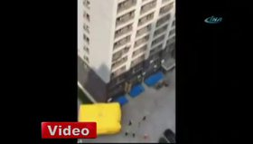 15 katlı binadan aşağı atladı!