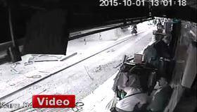 Ankara'daki kaza kamerada