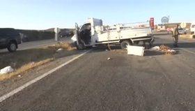 Diyarbakır'da polis aracı devrildi: 1 şehit