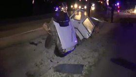 Ölüm virajında korkunç kaza