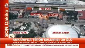 Patlamanın ardından paralelin kanalında şok olay