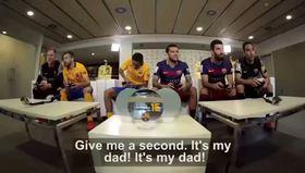 Barselonalı futbolcular FIFA 16 oynadı