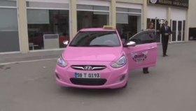 Kadınlara özel ''pembe taksi''