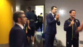 Real Madrid zaferi sonrası Fenerbahçe soyunma odasındaki kutlama!