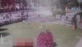 Emniyete bombalı saldırının yeni görüntüleri