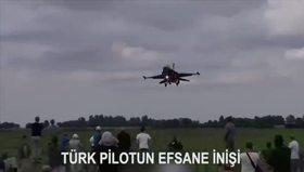 Türk F16 pilotunun efsane inişine özenince az kalsın insanları öldürecekti!