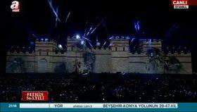 Yenikapı'da 3 boyutlu muhteşem Fetih Şöleni gösterisi!