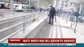 Batı medyası bu şiddete sessiz!