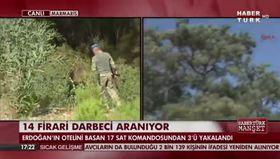 Darbeci asker canlı yayında böyle yakalandı!