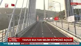 3. köprüden ilk geçiş yapıldı