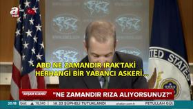 ABD Dışişleri Bakanlığı Sözcüsü'nü 'terleten' Irak sorusu
