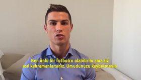 Ronaldo'dan Suriyeli çocuklara mesaj!