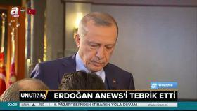Cumhurbaşkanı Erdoğan'dan A News'e tebrik