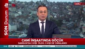 Samsun'da cami inşaatı çöktü!