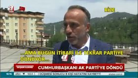 Vatandaş Erdoğan'ın partiye dönüşünü sevinçle karşıladı