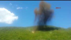 1 ton patlayıcı böyle imha edildi