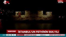 İstanbul'un Fethi'nin 564. yılı kutlamalarında muhteşem gösteri
