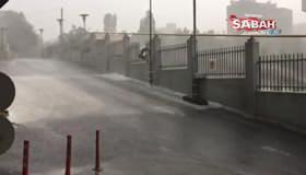 İstanbulda sağanak yağış etkili oldu!