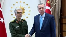 Erdoğan, İran Genelkurmay Başkanını kabul etti