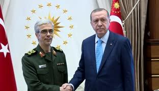 Erdoğan, İran Genelkurmay Başkanı'nı kabul etti