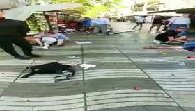 Barcelonada dehşet kameralara yansıdı