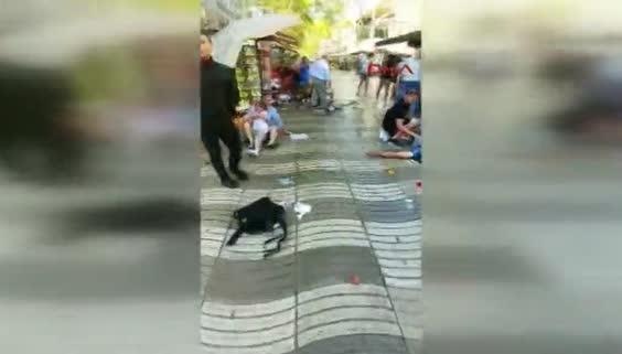 Barcelona'da dehşet anları!